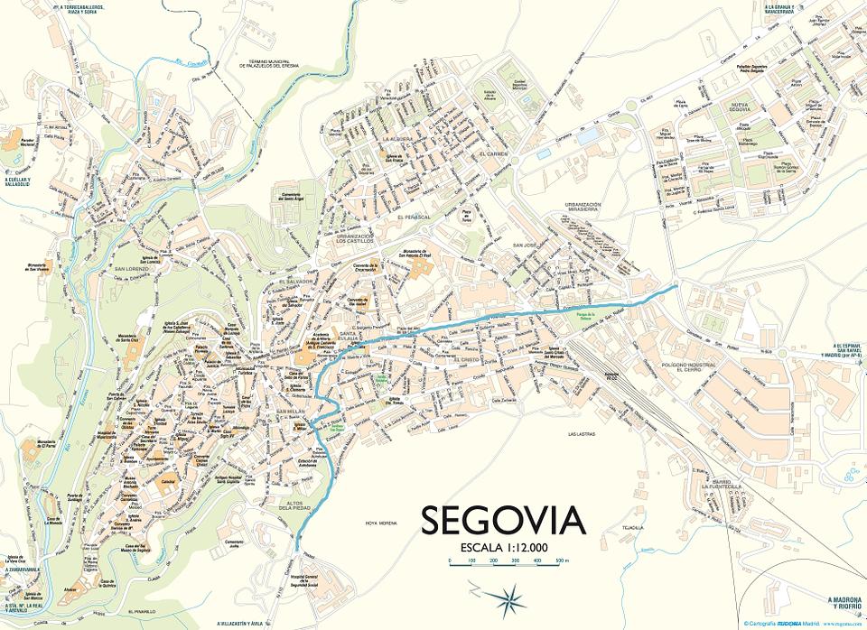 Plano del nuevo carril de bici en Segovia