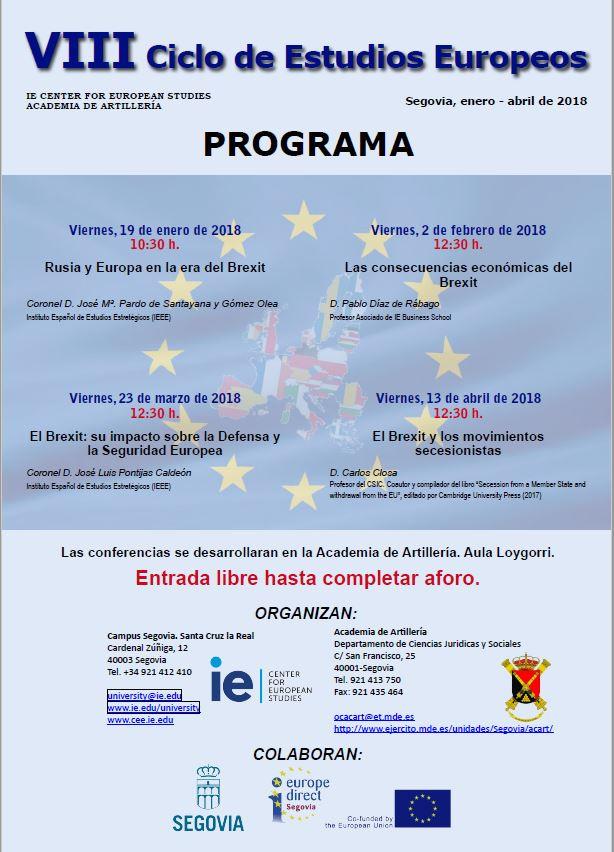 cartel ciclo estudios europeos