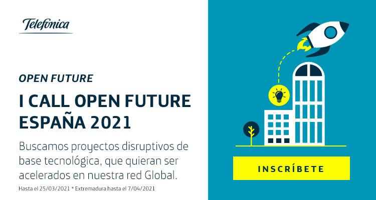 Ya puedes inscribir tu startup en la I Call Open Future España 2021