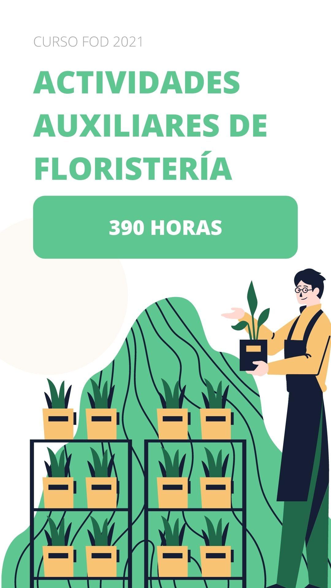 Curso FOD en Segovia de Actividades Auxiliares de Floristería
