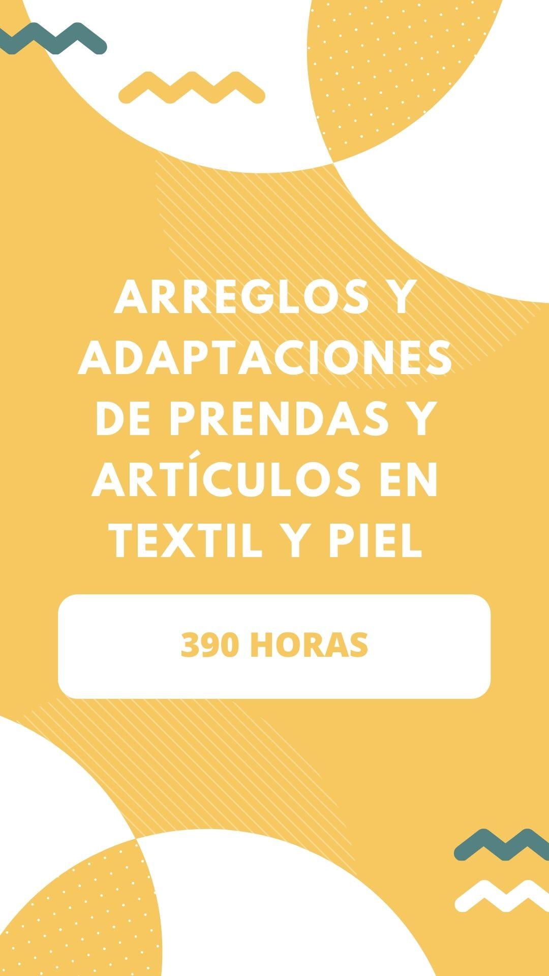 Cursos FOD en Segovia de Arreglos y Adaptaciones de Prendas y Artículos en Textil y Piel