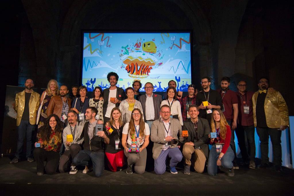 Foto de familia de premiados de la 10ª edición de 3D Wire